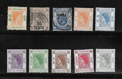 Collection Of Hong Kong Stamps Used & Unused - *early Overprint