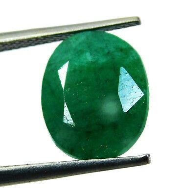 Natural 5.70 Ct Beautiful Oval Cut Colombian Emerald Loose Gemstone. 9181 as
