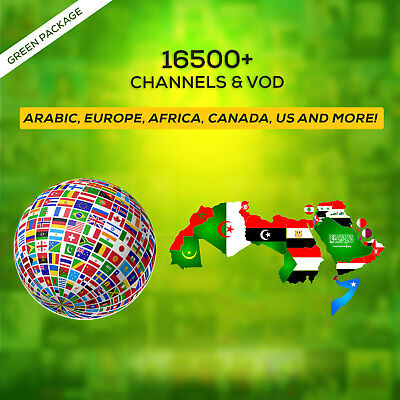 3 Months IPTV SUBSCRIPTION +16500 Ch&VOD AR , EUROPE , AFRICA, US ,CANADA , IL