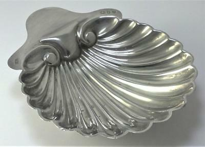 Victorian hallmarked Sterling Silver Shell Butter or Trinket Dish – 1894  (60g)