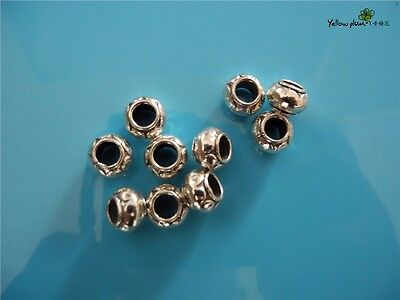 10 PCs Tibetan Carved Silver Metal Beads Set - Dreadlock Beads dread beads A10