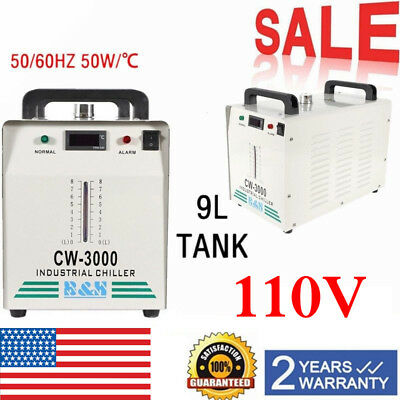 CW-3000 110V Thermolysis Industrial Water Chiller for 60/80W CO2 Glass Tubeo