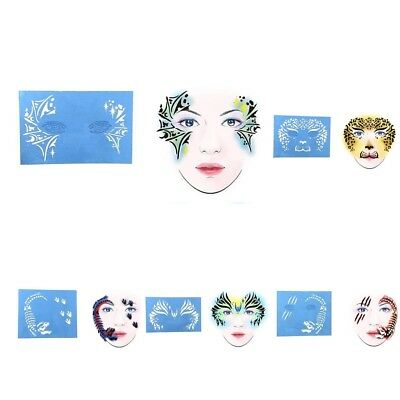 DIY Reusable Face Painting Body Art Stencil Template for Halloween Make Up