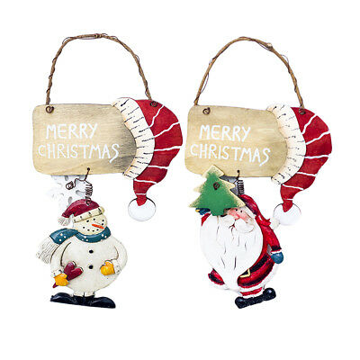 Hanging Merry Christmas Wooden Sign Xmas Tree Decor Ornaments for Home Party