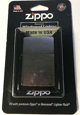 Zippo Brushed Chrome 200 Windproof Lighter New NIB Made in USA