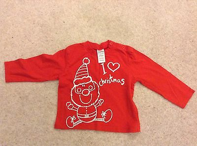 Cute Baby Christmas Top Age 9-12 Months Tesco