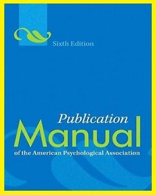 Publication manual of the american psychological association 6th publication manual of the american psychological association 6th ed eb00k pdf fandeluxe Choice Image