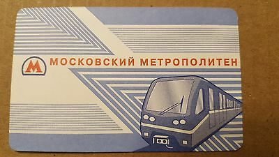 Moscow Metro Ticket Subway Ticket to Russian Rapid Transit  System.