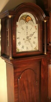 "Antique  Mahogany  "" Dereham""  Moon  Dial   Longcase / Grandfather Clock"