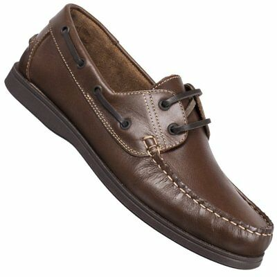 Lambertazzi Mens Brown Leather Lace Up Loafer Shoes [72013] UK 8 EU 42