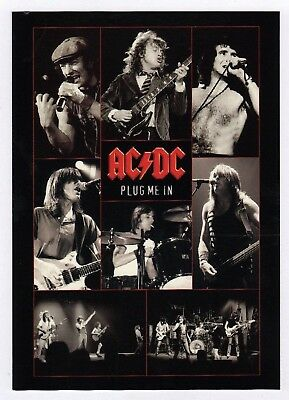 6x AC/DC Plug Me In - Postcard (Lot of 6 Postcards)