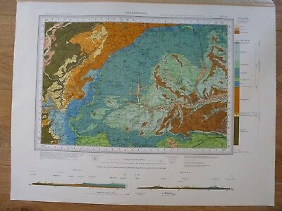 Vintage Geological Geology Map Marlborough in Near Fine Condition. FREE POSTAGE