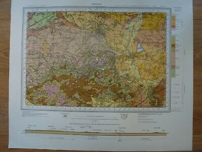 Vintage Geological Geology Map WINDSOR Near Fine-Condition