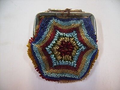 Ottoman Turkish  Glass Bead Purse Beadwork