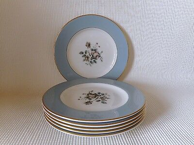 Sechs Royal Doulton Rose Elegans T1010 165mm Plates