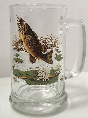 Old Style Collector Series I Beer Glass Mug - Large Mouth Bass