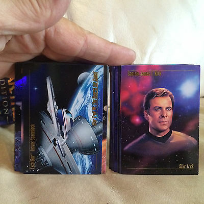 1993 Star Trek Master Series Skybox 90 Card Complete Trading Card Set!!