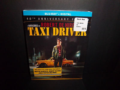 Taxi Driver 1976 (40th Anniversary Edition Blu-ray) Robert De Niro - New!!!
