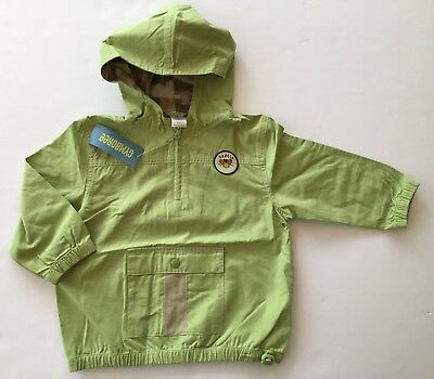 NWT Gymboree Bug Detective 3T Green Beetle Ripstop Anorak Hooded Pullover Jacket
