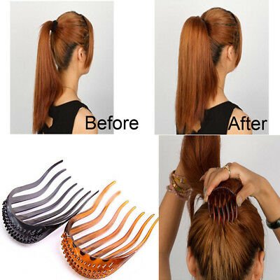 Women Fashion Hair Styling Clip Comb Stick Bun Maker Braid Tool Hair Accessories