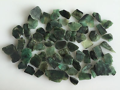213 Cts Natural Emerald Green Sawed Chips Rough Gemstones Loose Lot Raw Brazil