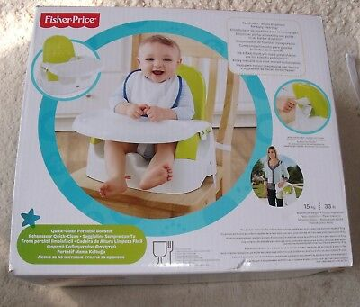 Boxed Fisher Price Quick Clean Portable Booster High Chair