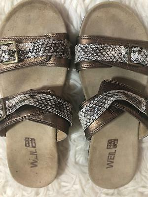 7147cec21877c4 Dr. Andrew Weil shoes size 40  9 womens brown comfort sandals 1st ray flexor