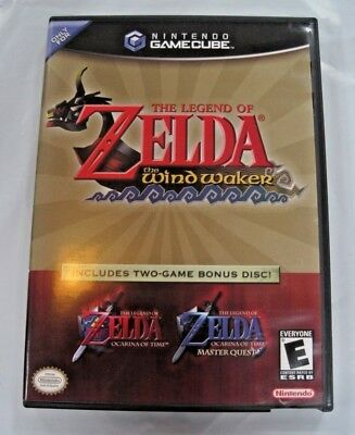 The Legend of Zelda Wind Waker + Ocarina of Time Master Quest Complete Gamecube
