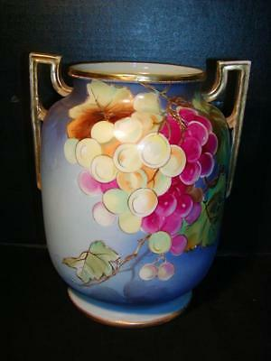 Antique Nippon Hand Painted Porcelain Vase 6 Morimura Mark