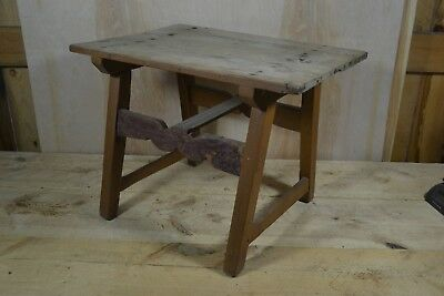 18th Century Scrub Top Tavern Table - Hand Forged Nails - Through Tenons