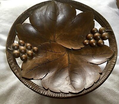 Carved Wooden Bowl Or Platter With Music Box In The Base