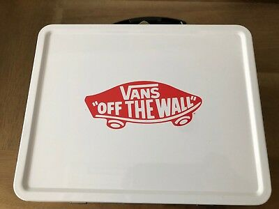 VANS Off The Wall White Black Red Checkerboard Metal Lunch Box VN0A46R7NOA