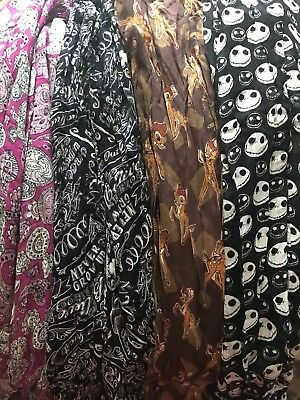 NWT Multiple Authentic Disney Parks Scarf Nightmare Before Christmas Bambi