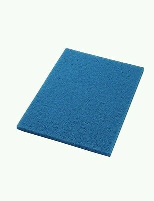 "Americo Manufacturing 40041432 blue cleaner  Floor Pad (5 Pack), 14""x32"""