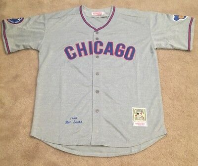 sports shoes 05c08 18582 RON SANTO CHICAGO Cubs Retro Throwback Jersey Mens XL 1968 Road Gray Style