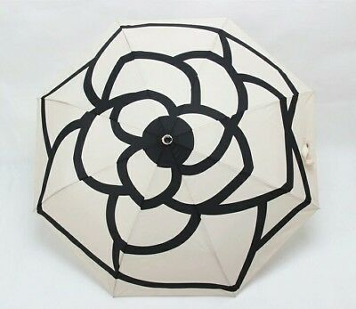 New Camellia Flower Vip Umbrella Cream With Quilted Bag And Gift Box