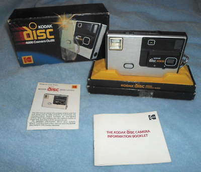 KODAK Disc 4000 CAMERA Outfit Used Vintage Comes with Original box & Manual RARE