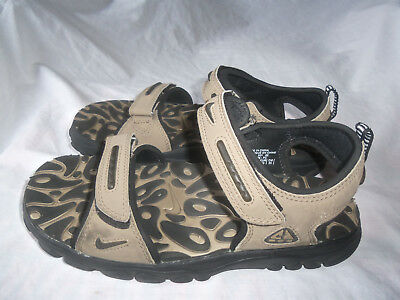 outlet store bbbae eff3a ... cheap mens boys nike acg brown black hiking sport water sandals shoe  size 7 3c509 1fca4
