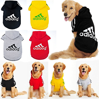 Winter Casual Adidog Pets Clothes Warm Hoodie Coat Jacket Clothing For Large Dog
