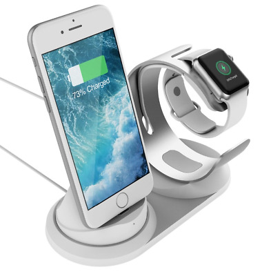 2-in-1 Aluminum Charging Station for Apple Watch 3/2/1  and iPhone X/8/7/6/5