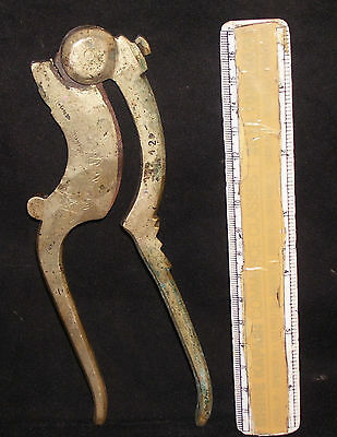 Antique Indian Ethnic Brass Betel Nut Cutter Rare Good Size Collectible