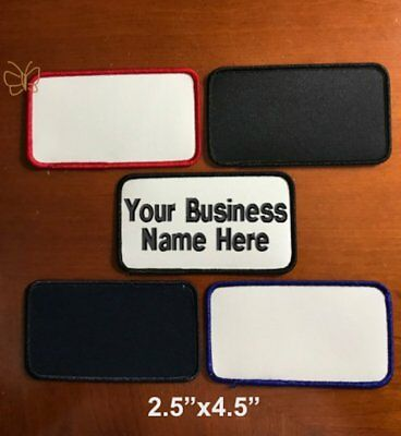 """Custom Embroidered Patch Personalized Name Tag Biker Badge 2.5""""x4.5"""" Big Size"""