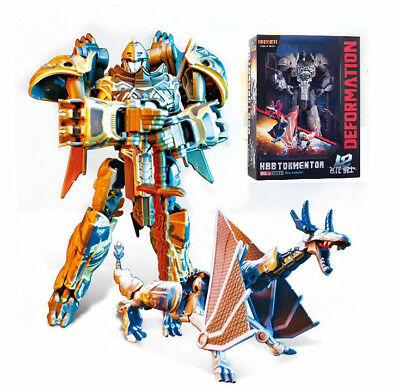 "KBB Transformers The Last Knight Steelbane Action Figure 8-15"" Toy New in Box"
