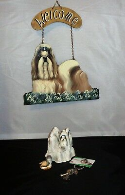 Set Of Shih Tzu Collectables