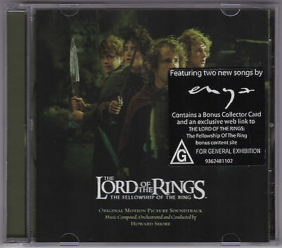 The Lord Of The Rings - The Fellowship Of The Ring - CD (Howard Shore)