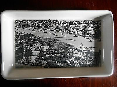 Shakespeare Exhibition 1564-1964 Plate Dish Globe Theatre & Boxed Holkham Lidor