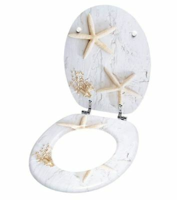 Bathroom Cream Toilet Seat - Starfish
