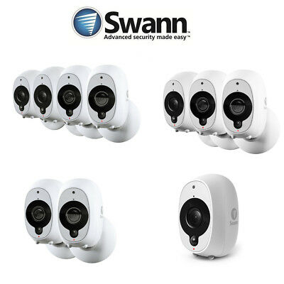 Swann Smart Security 1080P Battery Camera 1, 2 3,4 pack - SWWHD-INTCAM