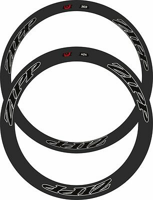 Zipp 303/404 Combine Decal Set For Two Wheels Black / White Outline