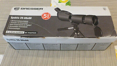 Bresser Spotting Scope 20X-60X +Carry Pouch+ Tripod Boxed